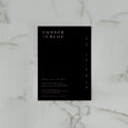 MINIMALIST SAVE THE DATE BLACK