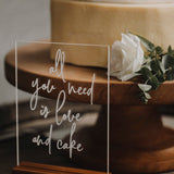 ACRYLIC CAKE SIGN WITH STAND