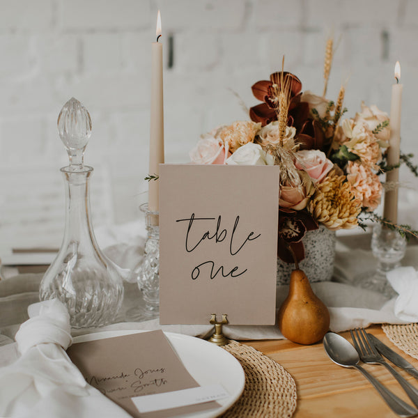 SIMPLICITY TABLE NUMBER MOCHA