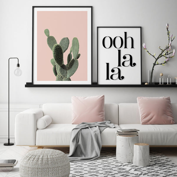 PINK CACTI GALLERY WALL