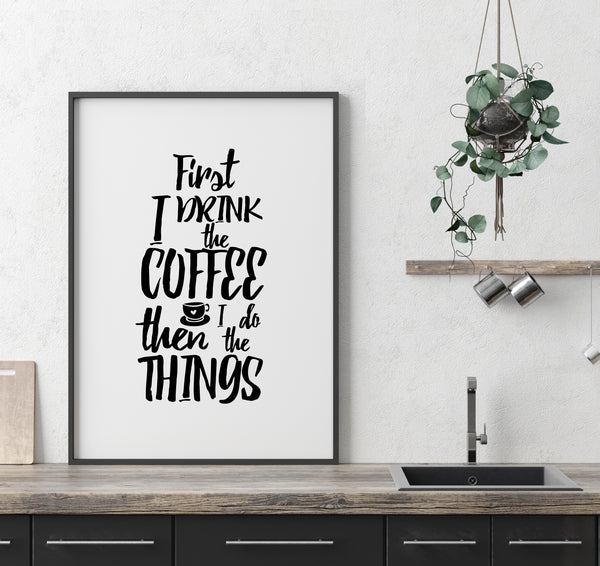 COFFEE PRINT / BLACK