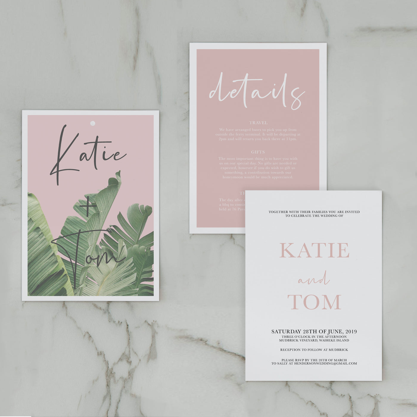 TROPICS WEDDING INVITE SET