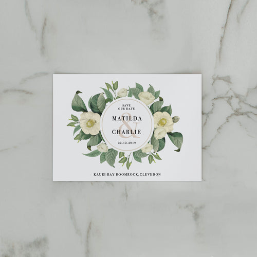 NUDE FLORALS SAVE THE DATE