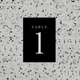 MINIMALIST TABLE NUMBER BLACK