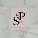 INITIAL SAVE THE DATE PINK / BLACK