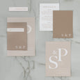 INITIAL WEDDING INVITE SET NATURAL