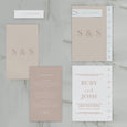 NEW YORK WEDDING INVITE SET NATURAL