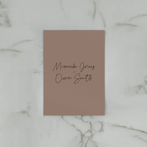 SIMPLICITY WEDDING INVITE SET BROWN