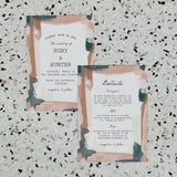 ARTSY WEDDING INVITE/INFORMATION SET