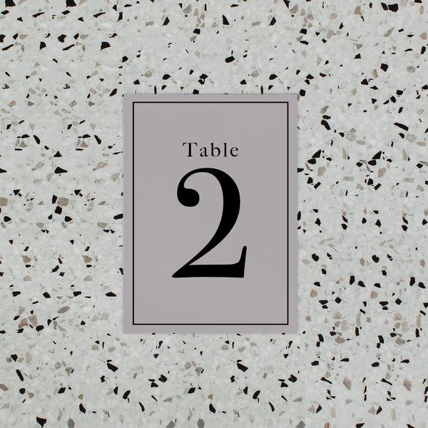 INITIAL TABLE NUMBER GREY