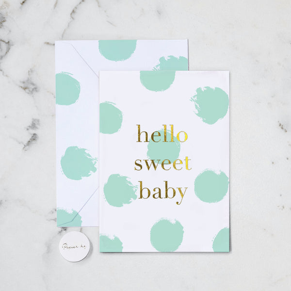 HELLO SWEET BABY GREETING CARD