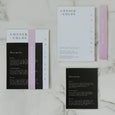 MINIMALIST WEDDING INVITE SET BLACK / PINK