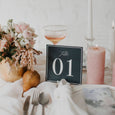 PAINTED WATERCOLOUR TABLE NUMBER NAVY