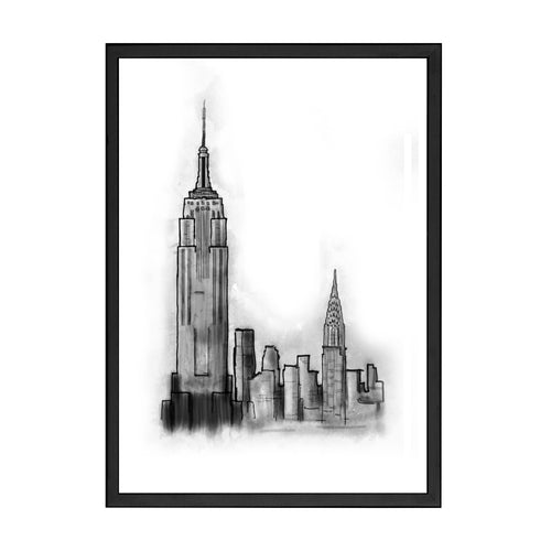 NEW YORK DRAWING PRINT