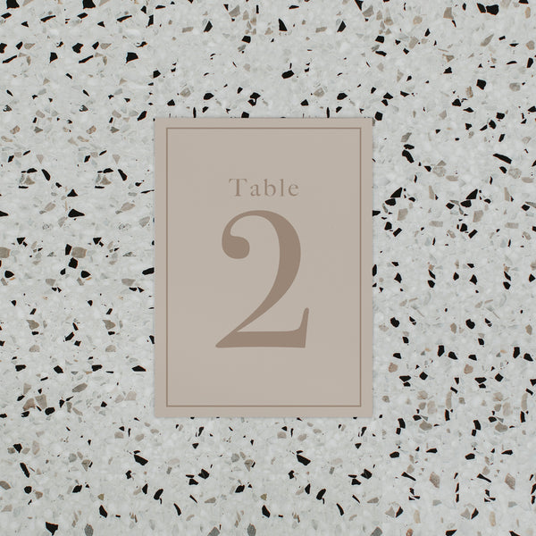 INITIAL TABLE NUMBER NATURAL