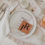INITIAL WEDDING MENU & PLACE NAME SET ORANGE