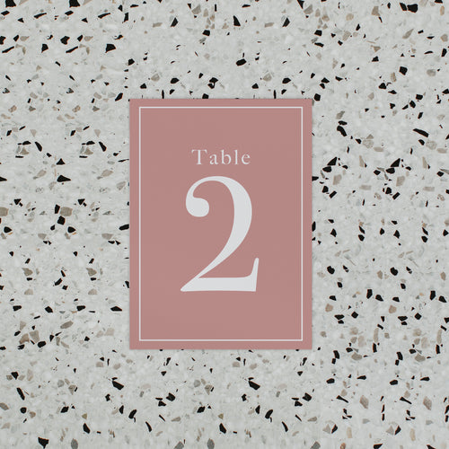 INITIAL TABLE NUMBER PINK