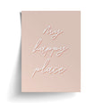 HAPPY PLACE PRINT PINK
