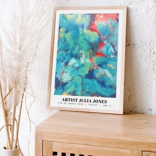 TURN YOUR KIDS ART INTO A PRINT