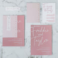 CALLIGRAPHY WEDDING INVITE SET PINK