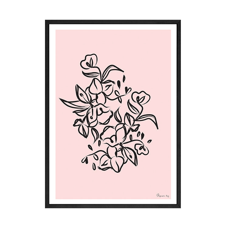 PAINTED FLOWER PRINT PINK