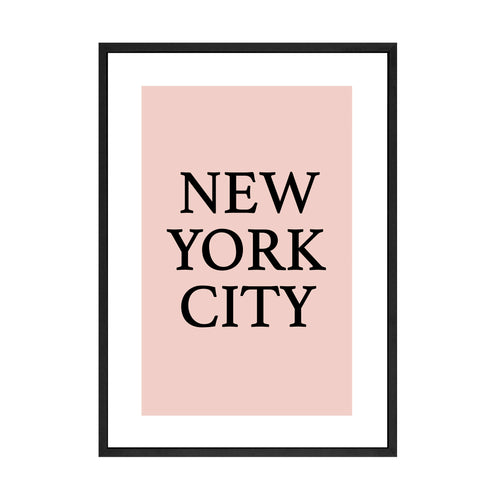 PINK IN NYC PRINT