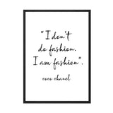 I AM FASHION PRINT