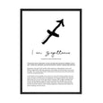 SAGITTARIUS STAR SIGN PRINT