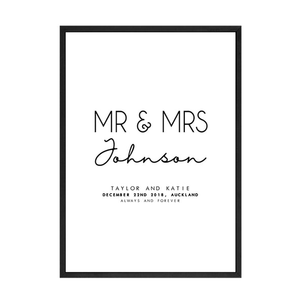 CUSTOM MR AND MRS PRINT
