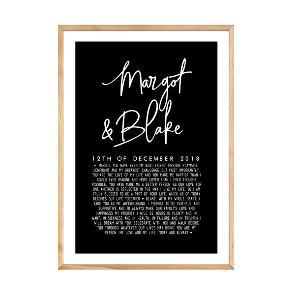 CUSTOM OUR VOWS PRINT