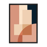 ABSTRACT MODERN BLOCK PRINT / BEIGE