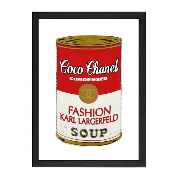 COCO CHANEL SOUP RED PRINT