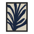 ABSTRACT LEAF PRINT NAVY