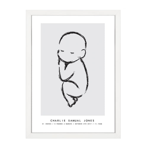 CUSTOM BABY ILLUSTRATION PRINT