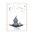 ELEPHANT AND BUNNY STARS PRINT