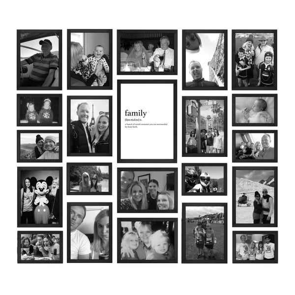 Black And White Family Photo Gallery Wall Papier Hq