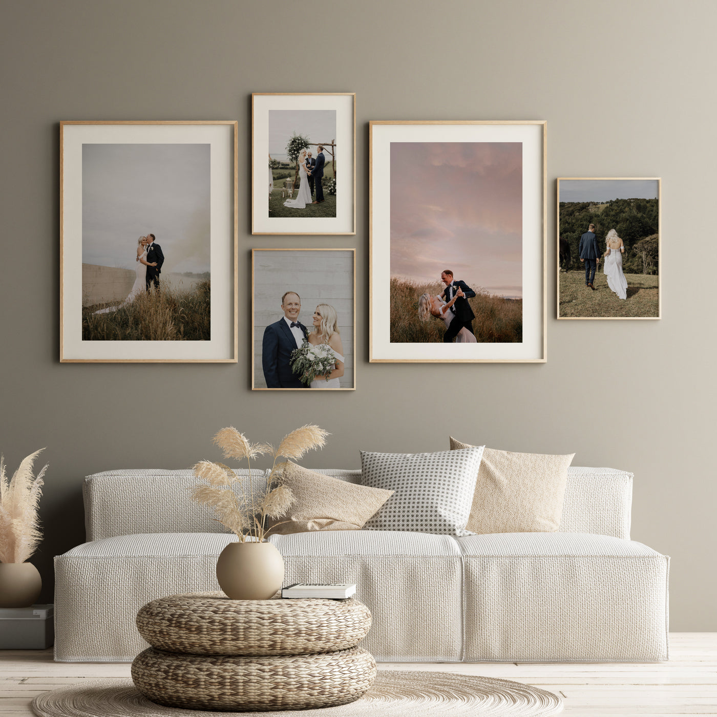 FRAMED PERSONAL PHOTOS GALLERY WALL