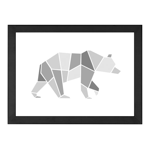 GEOMETRIC BEAR GREY PRINT