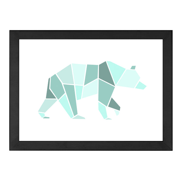 GEOMETRIC BEAR MINT PRINT