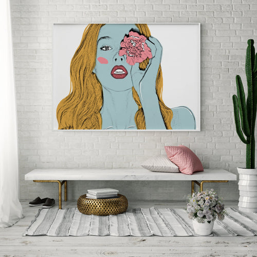 GIRL WITH A FLOWER PRINT