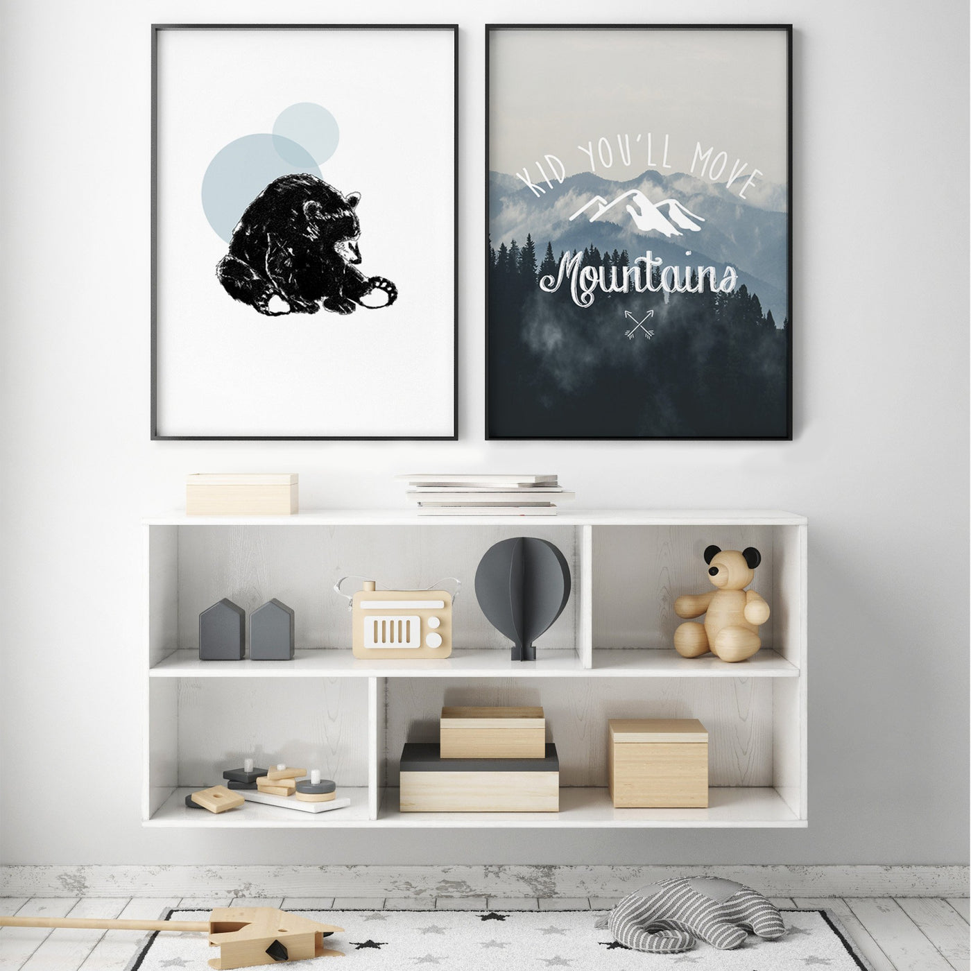 GRIZZLY BEAR GALLERY WALL
