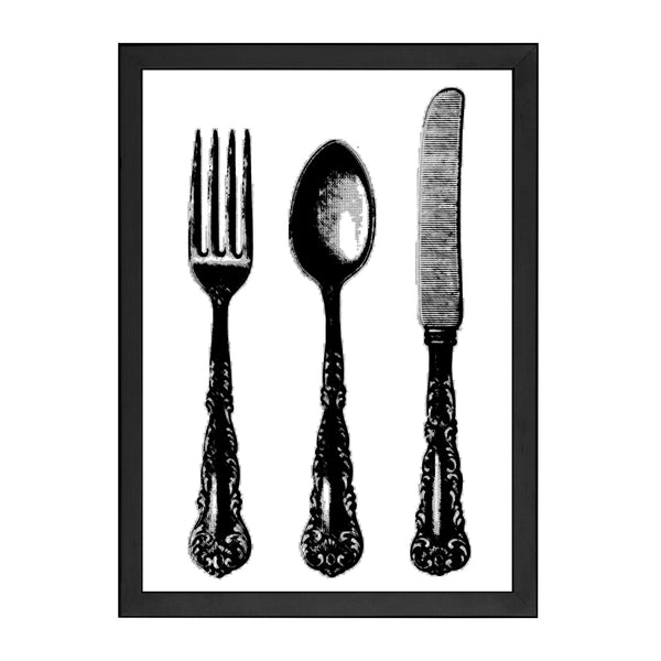 KNIFE AND FORK PRINT