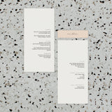 LEMON DREAMS WEDDING MENU & PLACE NAME SET