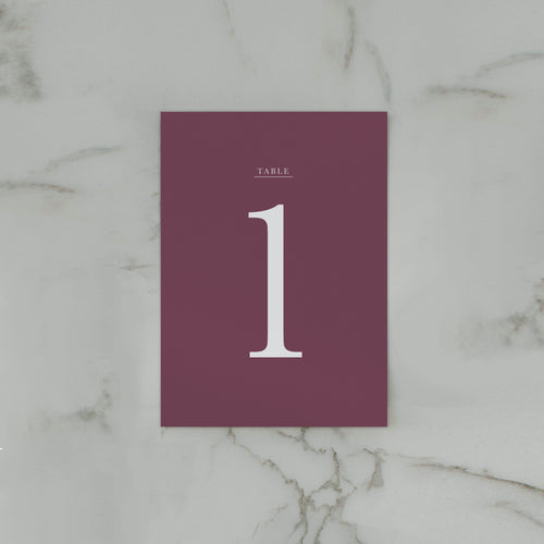 WATERCOLOUR TABLE NUMBER PLUM