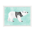 POLAR BEAR PAINTING PRINT