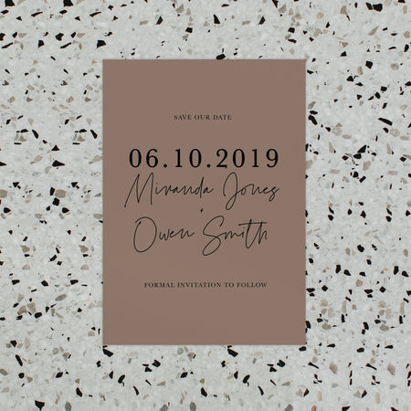 MINIMALIST SAVE THE DATE BLUSH