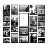 BLACK AND WHITE TRAVEL PHOTO GALLERY WALL