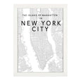 NEW YORK MAP BLACK PRINT