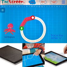 TacScreen Learning Screen & Screen Protector for iPad (The Most Popular iPad) Early Ed & Dyslexia
