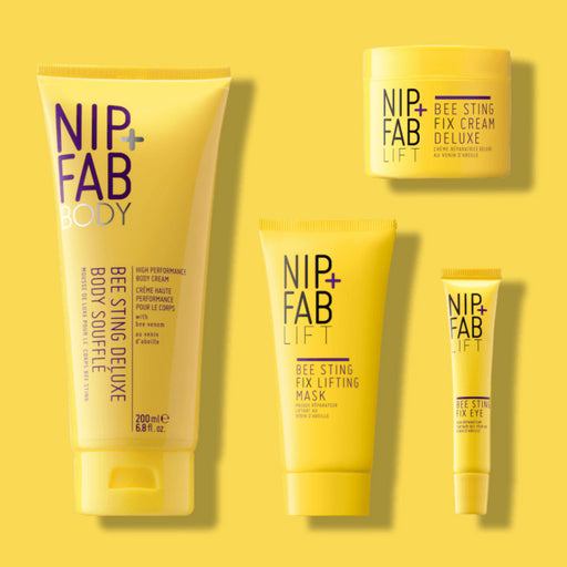 NIP+FAB BEE STING anti-aging KIT including Body lotion, facial mask, eye cream and deluxe night cream